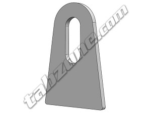 "380014SLOT - 3/8"" Slotted Flat Tabs"