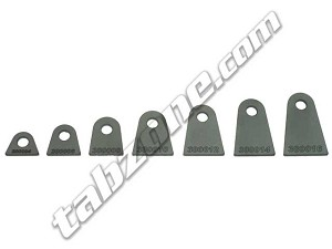 "3/8"" Bolt - Flat Tabs - 3/16"" Thick"